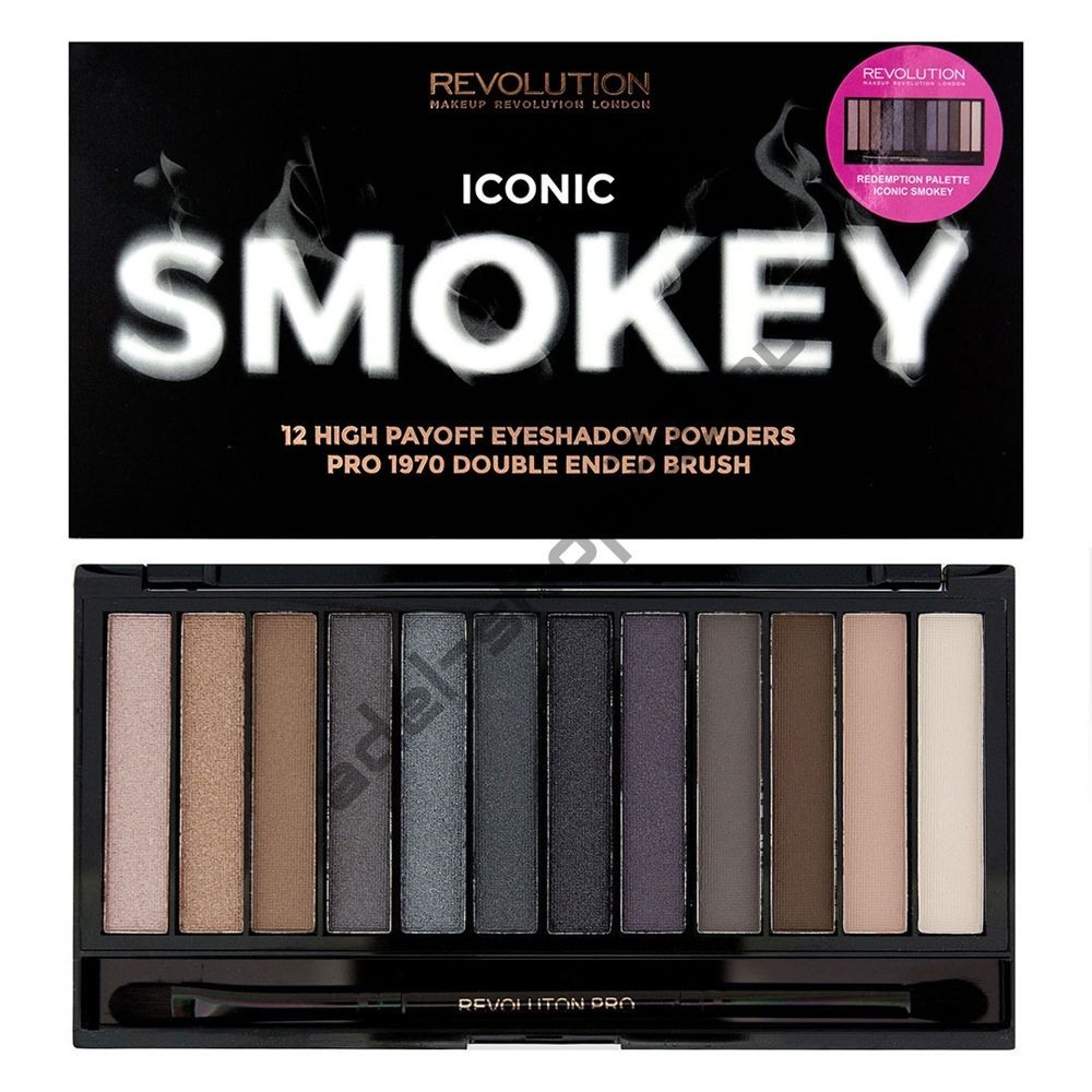 "MakeUp Revolution - Тени для век ""Iconic Smokey"""