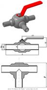 Кран шаровой трехходовой ЗАРД 40.40Ф Ду40 Ру40