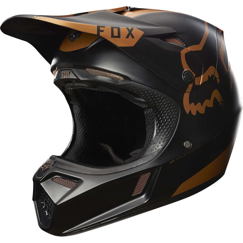 Fox - 2017 V3 Moth Copper Limited Edition шлем