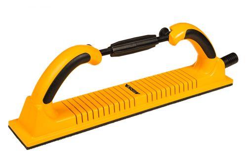Ручной гибкий шлифовальный блок 70х400 мм 53 отв., жёлтый, на липучке