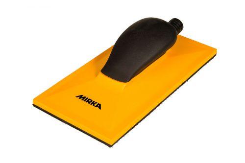 Ручной шлифовальный блок жёлтый с пылеотводом 115x230 32 отв