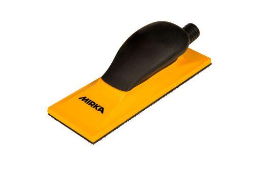 Ручной шлифовальный блок жёлтый с пылеотводом 70x198 мм 22 отв