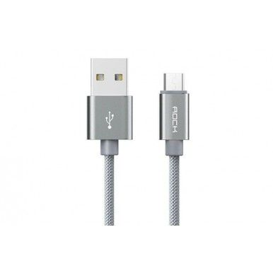 Кабель USB-Micro USB Rock Metal Micro Cable