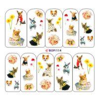 Наклейка на ногти Nail Art BOP114