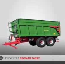 Монолитный прицеп тандем PRONAR Т669