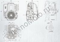Zongshen (Зонгшен) ZS XP 620FE четырехтактный бензиновый двигатель с вертикальным валом, имеет объем 625 куб. см и обладает мощностью 21 л. с., диаметр вала 25,4 мм. Присоединительные размеры. Texnomoto.ru