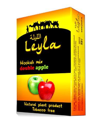 Кальянная смесь без табака Лейла Двойное яблоко