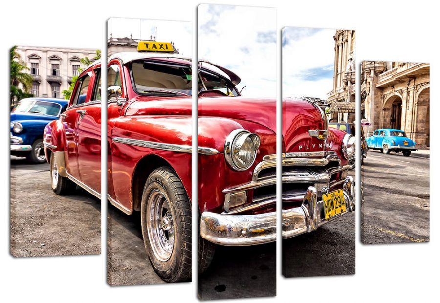 Модульная картина  Такси на Кубе