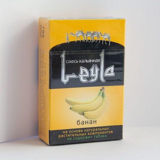 Кальянная смесь без табака Лейла Банан