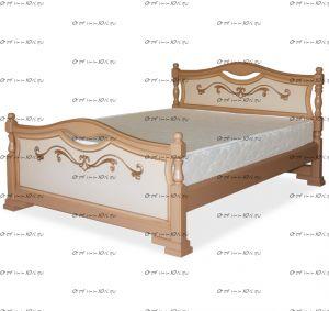 Кровать Людмила-16 массив + МДФ