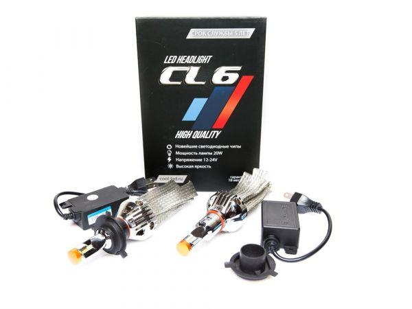 Комплект светодиодных ламп CL6 цоколь H4 Premium