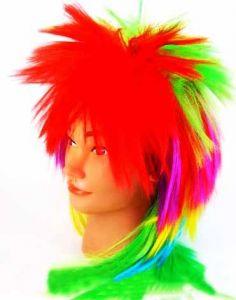 Парик панка разноцветный