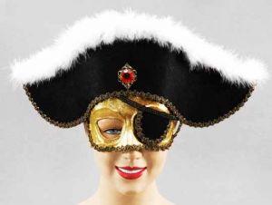 Полумаска пирата с шляпой