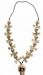 Ожерелье с черепом (80см)