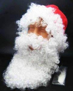 Шапка Санта Клауса с бородой
