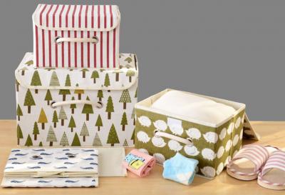 Стильные коробки с крышкой для хранения одежды и постельного белья размер в ассортименте
