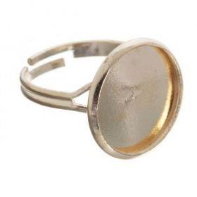 Основа для кольца площадка 16мм (набор 5шт) регул-й раз-р, цвет золото