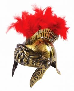 Шлем воина с плюмажем