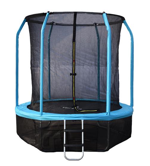 Батут с внутренней защитной сеткой - Yarton 8FT (2,44м), цвет синий