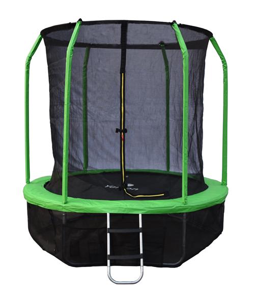 Батут с внутренней защитной сеткой - Yarton 8FT (2,44м), цвет зеленый