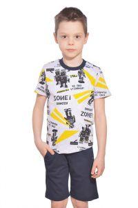 белорусский комплект для мальчика из футболки и шорт