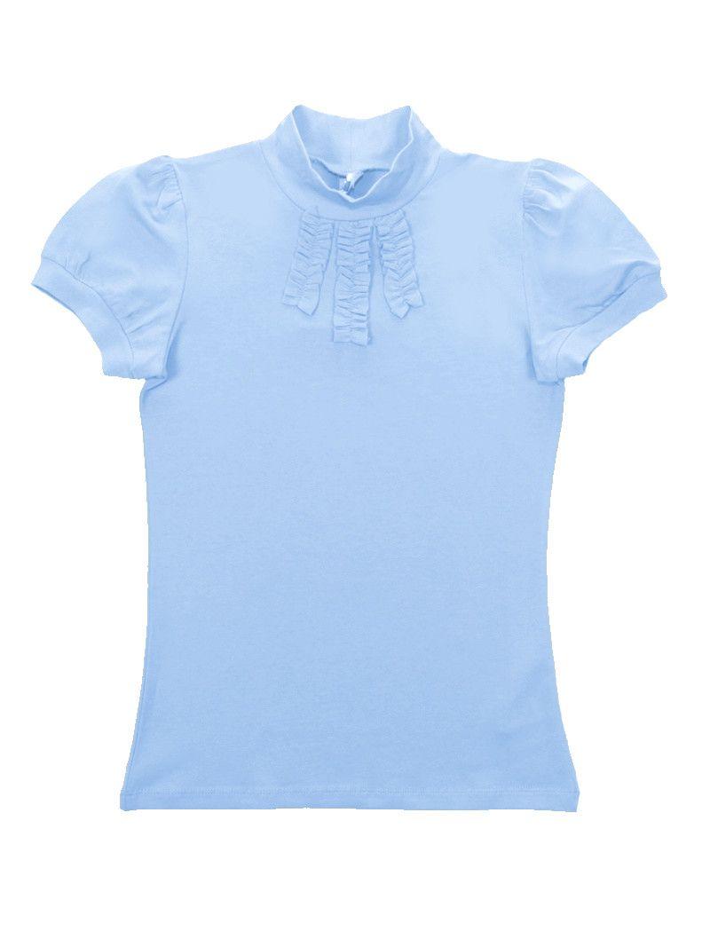 Голубая водолазка для девочки