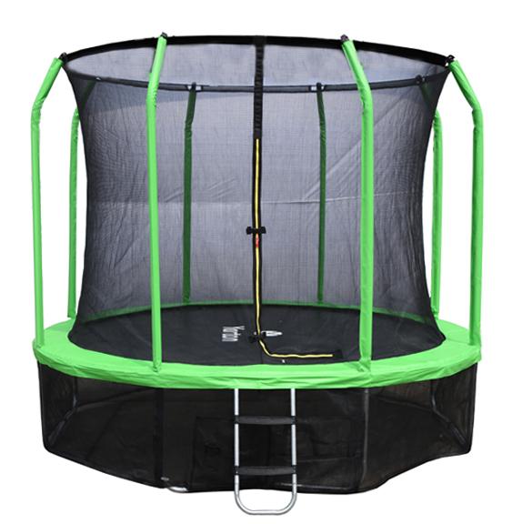 Батут с внутренней защитной сеткой - Yartin 10FT (3,05м), цвет зеленый