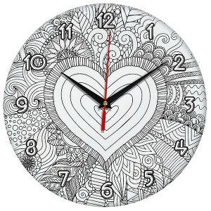 Часы раскраска Сердце 2