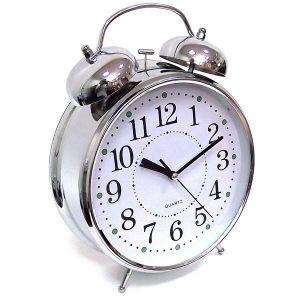 Часы Будильник ГИГАНТ никелированные