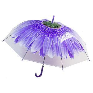Зонт-трость Цветок синий