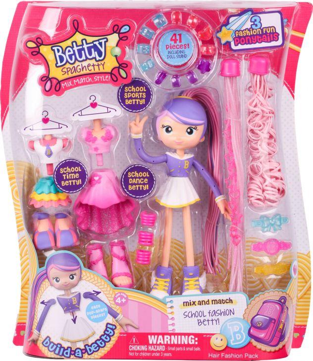Кукла Бетти Спагетти - Школьница Модные прически