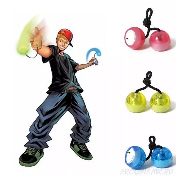 Светодиодные шарики-антистресс Thumb Chucks (begleri)