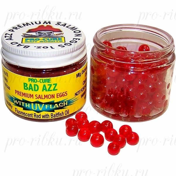 Аттрактант-икринки Bad Azz Salmon Eggs 1oz. (Baitfish Oil)
