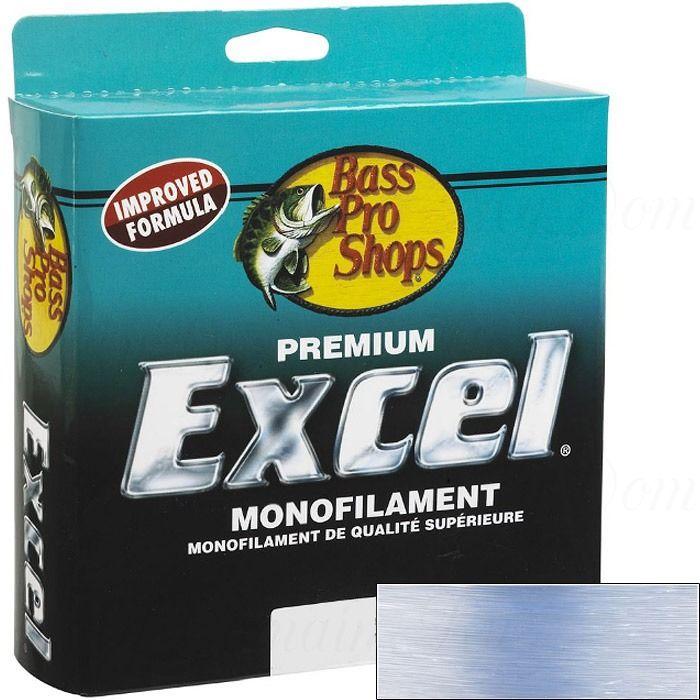 Леска монофильная Bass Pro Shops Excel Jumbo голубая 0,330 мм; 12 lb/5,4 кг; 1097 м.