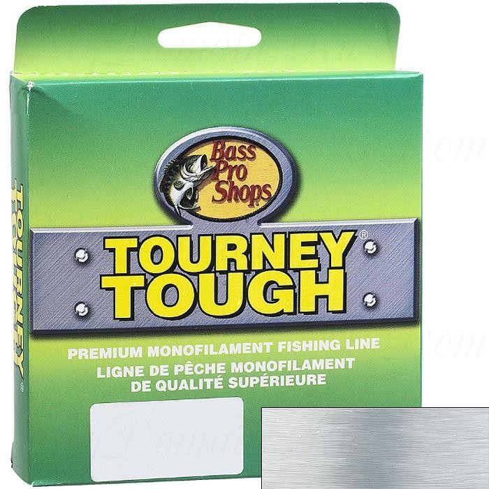 Леска монофильная Bass Pro Shops Tourney Tough прозрачная 0,330 мм; 12 lb/5,4 кг; 252 м.