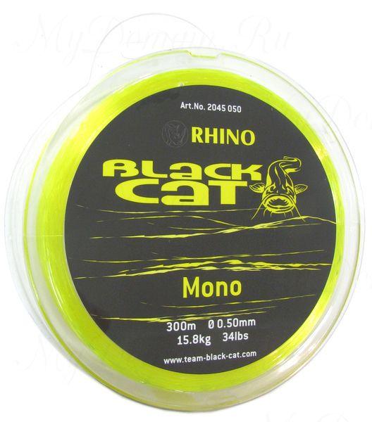 Леска Монофильная Black Cat Mono, цвет Yellow, 0.50 мм 34lb (15,8 кг) (300 м)