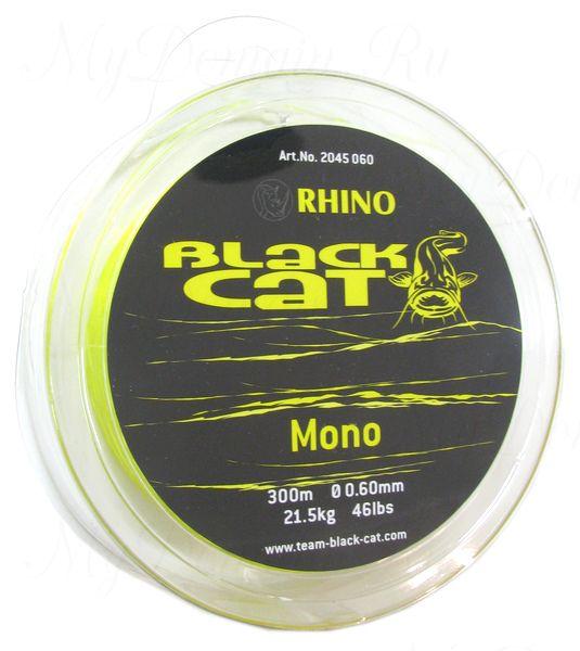 Леска Монофильная Black Cat Mono, цвет Yellow, 0.60 мм 46lb (21,5 кг) (300 м)