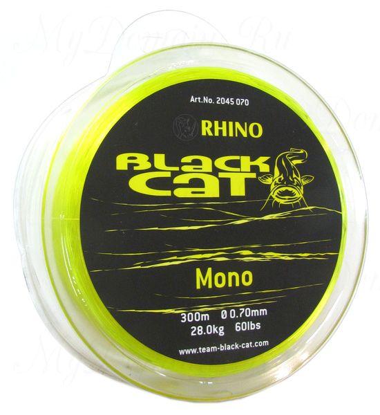 Леска Монофильная Black Cat Mono, цвет Yellow, 0.70 мм 60lb (28 кг) (300 м)
