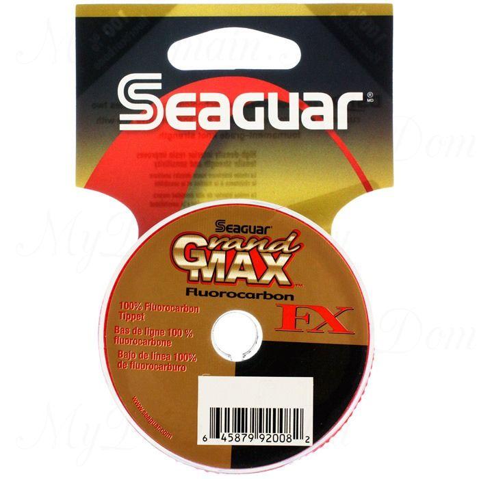 Поводковый материал из флюорокарбона Kureha Seaguar Grandmax-FX №6X; 0,128 мм; 3,7 lb/1,7 кг; 25 ярдов/23 м.