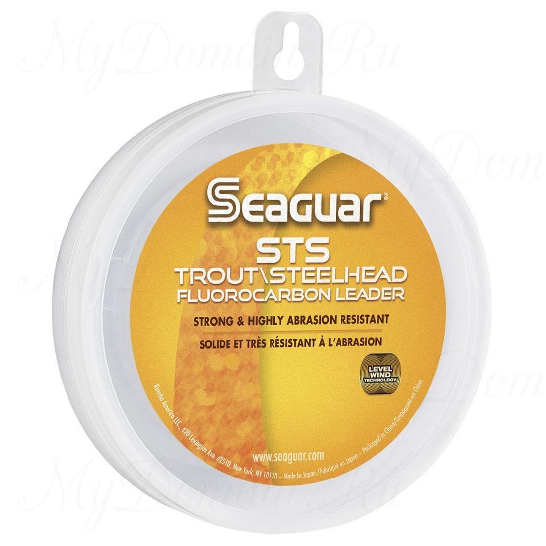Поводковый материал из флюорокарбона Seaguar STS Salmon & Trout/Steelhead 0,405 мм; 20 lb/9,1 кг; 100 ярдов/91 м.