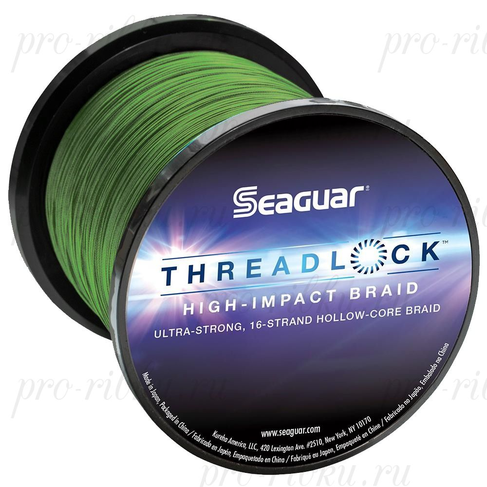 Шнур плетеный Seaguar Threadlock зеленый 0,520 м; 100 lb/45,5 кг; 600 ярдов/546 м.
