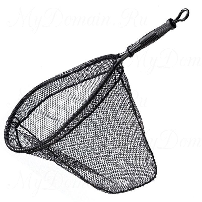 Подсак-ракетка нетонущий для форели EGO Trout Small; обруч 30х38х30 см; нейлон+резина; вес 223 гр.