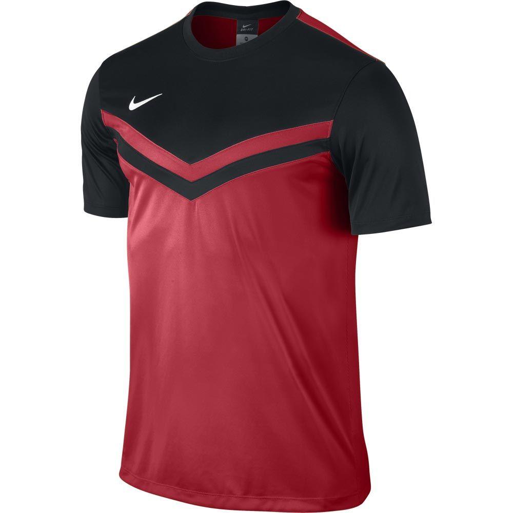 Детская красно-чёрная игровая футболка Nike Victory II Jersey