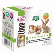 Lolo Pets Lime Минеральный камень для грызунов и кроликов с апельсином (40 г)