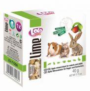 Lolo Pets Lime Минеральный камень для грызунов и кроликов с яблоком (40 г)