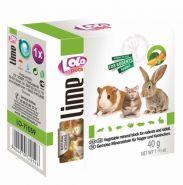 Lolo Pets Lime Минеральный камень для грызунов и кроликов с овощами (40 г)