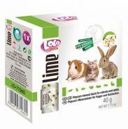 Lolo Pets Lime Минеральный камень для грызунов и кроликов с попкорном (40 г)