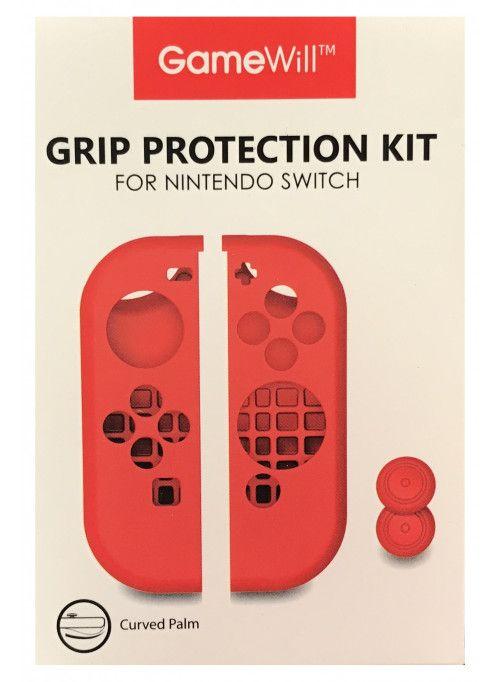 Силиконовые чехлы Grip Protection Kit для 2-х контроллеров Joy-Con (красный) (Nintendo Switch)