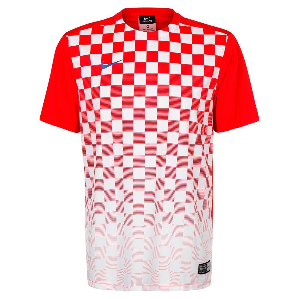 Футболка Nike Precision III игровая красно-белая