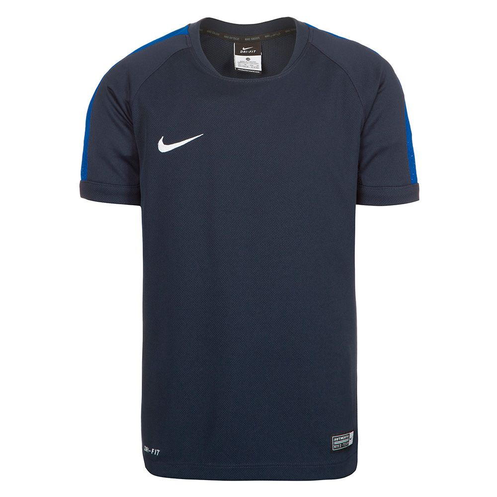Детская футболка Nike Squad 15 тренировочная тёмно-синяя